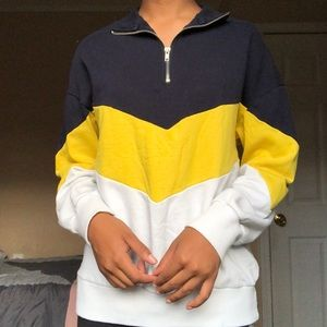 Forever21 Oversized Quarter Zip Sweatshirt